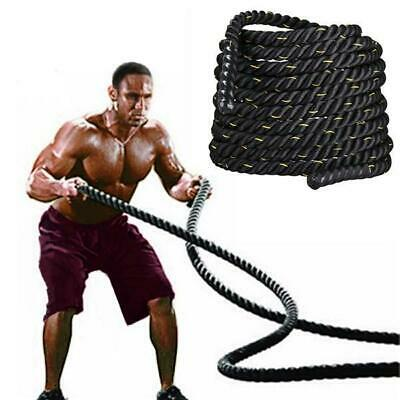 38mm Poly 9/15m Battle Rope Workout Strength Training Fitness Undulation Rope