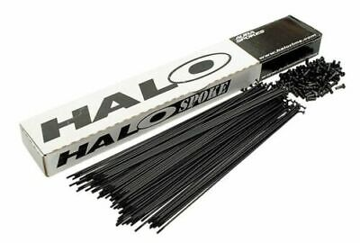 Box of 100 Halo MTB / Road Spokes - Black or Silver Stainless with Nipples
