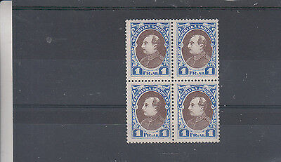 Albania Stockcard 1925 Block Of 4 Trail Or Proof Mint