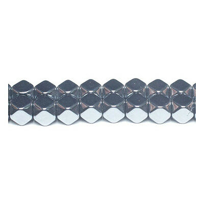 Strand Of 38+ Grey Hematite (Non Magnetic) 10mm Cube Beads GS12558