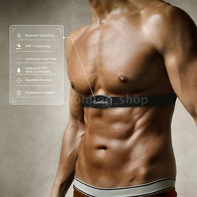 Black 2.4G Wireless Heart Rate Monitor ANT Smart Sensor Chest Belt Durable O3A1