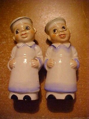 Vintage Salt And Pepper Shakers, Chefs