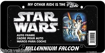 Star Wars My Other Ride Is The Millennium Falcon Plastic Car License Plate Frame