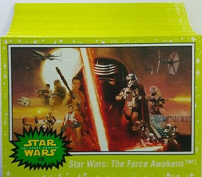 JOURNEY to Star Wars FORCE AWAKENS  GREEN PARALLEL CARD LOT of 37 Topps   2015