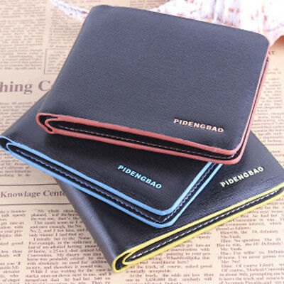 Luxury High Quality Men Leather Bifold Slim Wallet Credit Card Holder Purse Gift