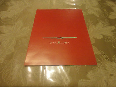 Amazing 1967 Ford Thunderbird Car Brochure  7 Pages!