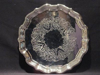 "Primrose EP Brass Beautiful 10"" Silverplate Vintage Tray Made in Canada"