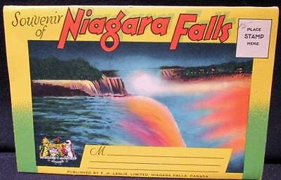 Niagara Falls Vintage F H Leslie Ltd Souvenir Postcard Folder of Color images