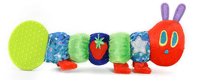 Rainbow Designs THE VERY HUNGRY CATERPILLAR BABY TEETHER RATTLE TOY Baby BN