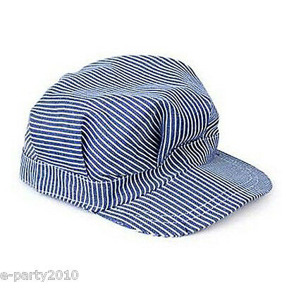 TRAIN ENGINEER FABRIC HAT ~ Birthday Party Supplies Thomas Favors Costume Blue