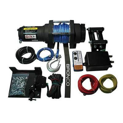 New Atv Winch 2500 Lb Wireless Remote Synthetic Rope Sportsman Grizzly Can Am