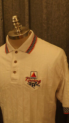 Vtg Citgo Racing Polo Shirt by Swingster Sz Large USA made