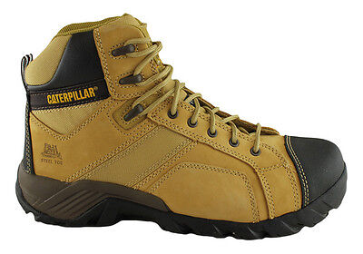 Caterpillar Argon Hi Side Zip Mens Steel Toe Safety Wide Fit Work Boots
