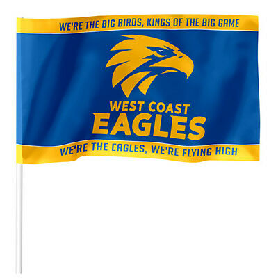 West Coast Eagles AFL FLAG KIDS Pole Game Day Banner Birthday Christmas Gift