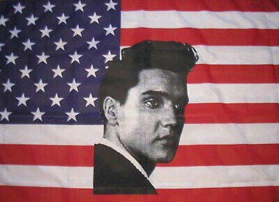 USA YOUNG ELVIS PRESLEY FLAG 5' x 3' America American The King Music Festival