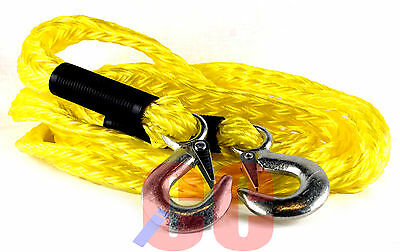 LONG 4M 14' tow rope emergency breakdown towing strap POLYPROPYLENE car van pull