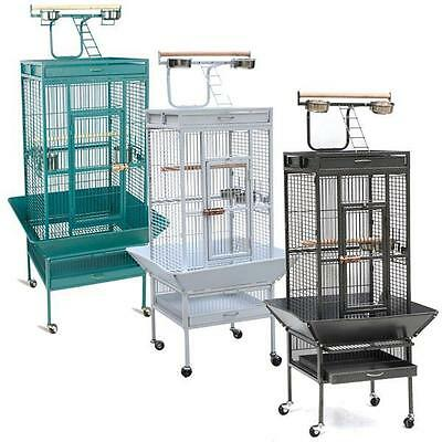 """61""""Large Bird Cage Play Top Parrot Finch Cage Macaw Cockatiel Cockatoo Pet House"""