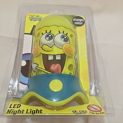 Spongebob SquarePants LED Nightlight Changes Colour Night Light
