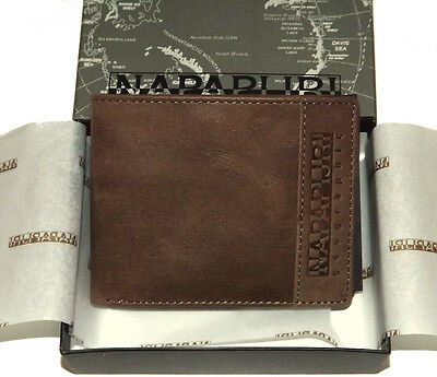 Portafoglio Uomo Marrone Scuro Napapijri Wallet Men Dark Brown N6Z05