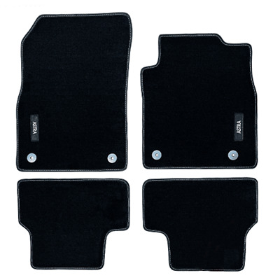 Vauxhall Astra J Velour Black Tailored Front/Rear Floor Car Mats GENUINE OE