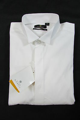 S21 Mens NEW Wing Collar Slim Fit White Wedding Evening Tuxedo Dress Shirt