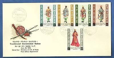 Ethiopia Fdc 1974 Traditional Robes Vestiti Cerimonia