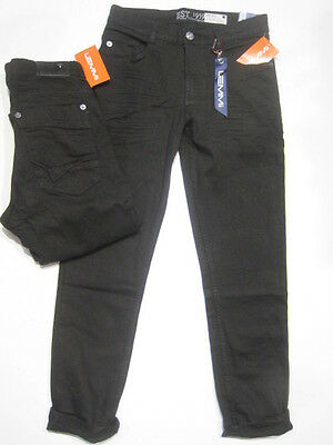 Lemmi Jungen Jeans schwarz denim tight fit,  superbig Gr. 140  Sale 35 %
