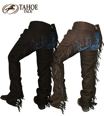 Tahoe Amara Suede Western Show Full Chaps with Fringes