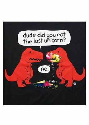 Goodie Two Sleeves Women's Did You Eat The Last Unicorn ? Tee T Shirt BNWT Large