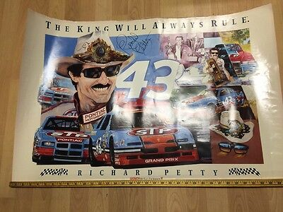 Authentic Nascar Signed Richard Petty Poster 36X 24.
