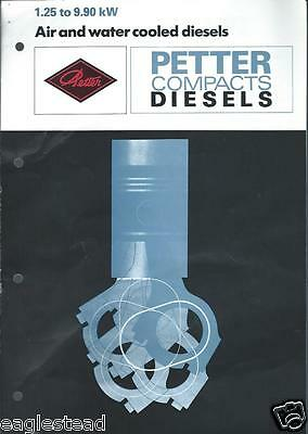 Equipment Brochure - Petter - 1.25 to 9.9 kW Compact Diesel Engine (E2702)