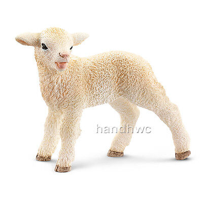 Schleich 13744 Lamb Standing Baby Sheep Model Farm Animal Toy - NIP