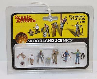 HO Scale Woodland scenics City Workers Boxed A1826  FNQHobbys (S020)