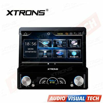"XTRONS Single 1 DIN 7"" Car DVD Player Stereo GPS Sat Nav DAB+ Digital Radio RDS"