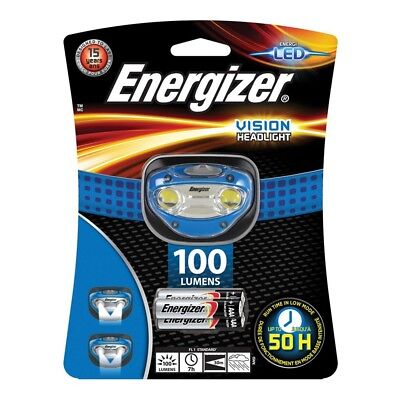 Energizer Vision LED Headlight Headlamp with 3x AAA Energizer Batteries 80 Lumen