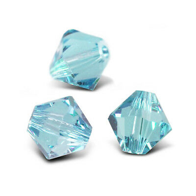 Strand 40+ Cyan Czech Crystal Glass 8mm Faceted Bicone Beads GB8649-5