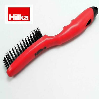 Hilka Tools Hand Steel Wire Brushes Comfort Grip Handles For Paint Rust Removal