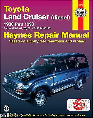Toyota Landcruiser **new, Sealed Haynes Manual** 1980-98 Hj60, Hj70, Hj75, Hdj80