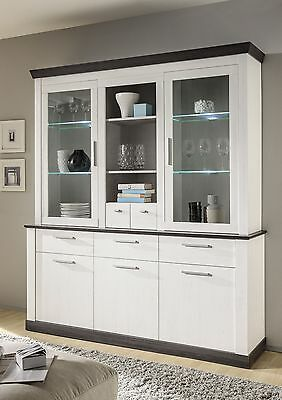 Buffet in Pinie Weiss mit LED-Beleuchtung Woody 16-00514