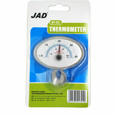 JAD Analogue Thermometer BT-03 Aquarium Temperature Monitor Gauge oblong reptile