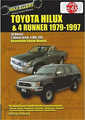 Toyota Hi-Lux & 4 Runner **New Ellery Manual** 1979-1997 2Wd & 4Wd Diesel Models