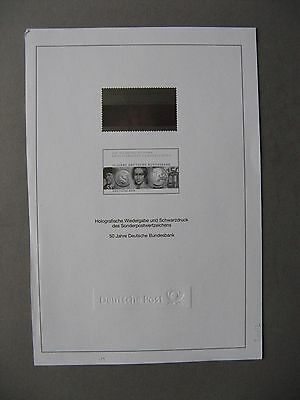 GERMANY BRD,  sheet 2007 with blackprint and hologramme , 50 years D. Bundesbank