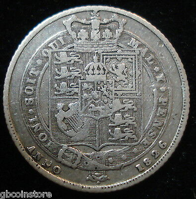 Scarce Key Date 1826 George Iv Shield Type Sixpence Good Clear Detail Spink 3814