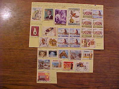 Stamps 5 African Countries Benin/ Zimbabwe(19Used+2 Blks of 4,+ 2 Mint) SCV$11.9