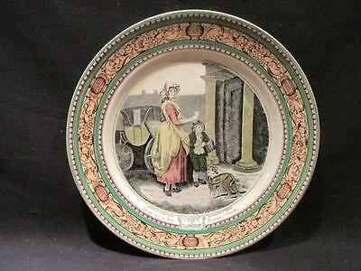 Adams Cries of London Do You Want Any Matches Vintage Plate Brown & Green Design