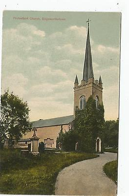 irish postcard ireland longford edgeworthstown church