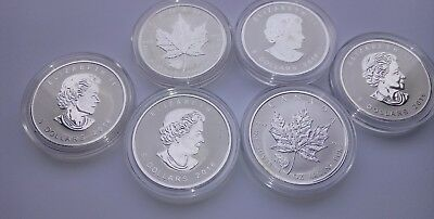 1 2016 Bear Privy Canadian Maple Leaf Rev. Proof 1oz Silver Coin Scatches,Spots