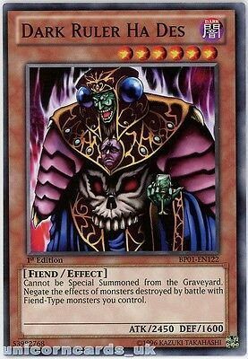 BP01-EN122 Dark Ruler Ha Des 1st Edition Mint YuGiOh Card