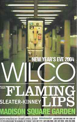 Wilco Flaming Lips Sleater Kinney Concert Handbill Mini Poster MSG NYC 2004