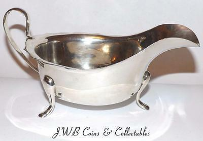 Antique Solid Silver Sauce / Gravy Boat Hallmarked Sheffield 1933 Viner's Ltd